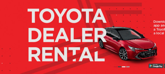 Toyota Dealer Rental available now at Carroll & Kinsella